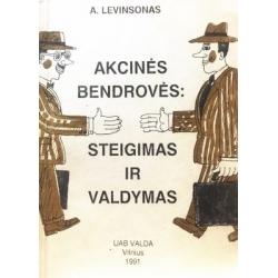 Levinsonas A. - Akcinės bendrovės: steigimas ir valdymas