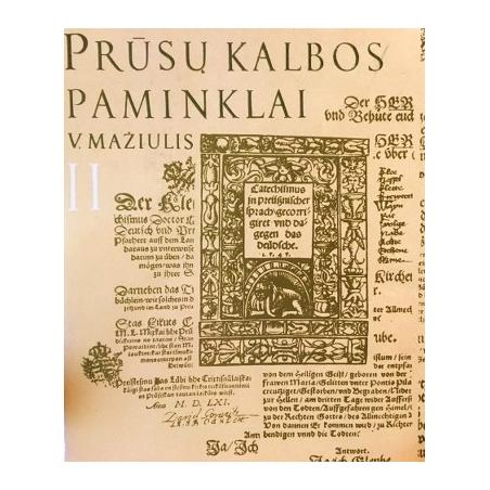 Mažiulis Vytautas - Prūsų kalbos paminklai (II dalis)