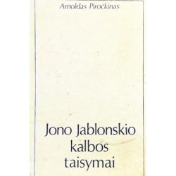 Piročkinas Arnoldas - Jono Jablonskio kalbos taisymai