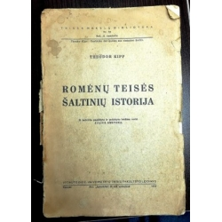 Theodor Kipp - Romėnų teisės šaltinių istorija
