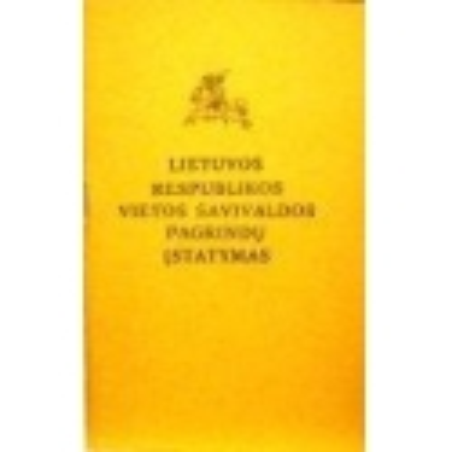 Lietuvos Respublikos vietos savivaldos pagrindų įstatymas