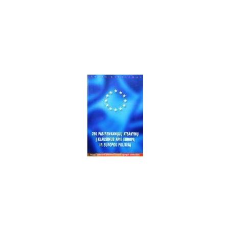Depondt Jos - 250 pasirenkamųjų atsakymų į klausimus apie Europą ir Europos politiką