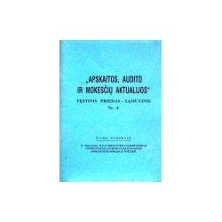 Apskaitos, audito ir mokesčių aktualijos 1999/4