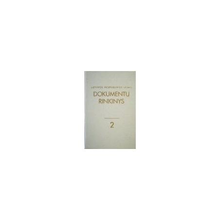 Lietuvos Respublikos Seimo dokumentų rinkinys (2 tomas)